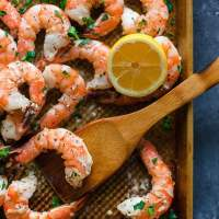 Sheet Pan Garlic Butter Shrimp and Green Beans