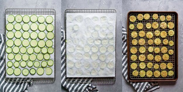 step by step how to make zucchini chips