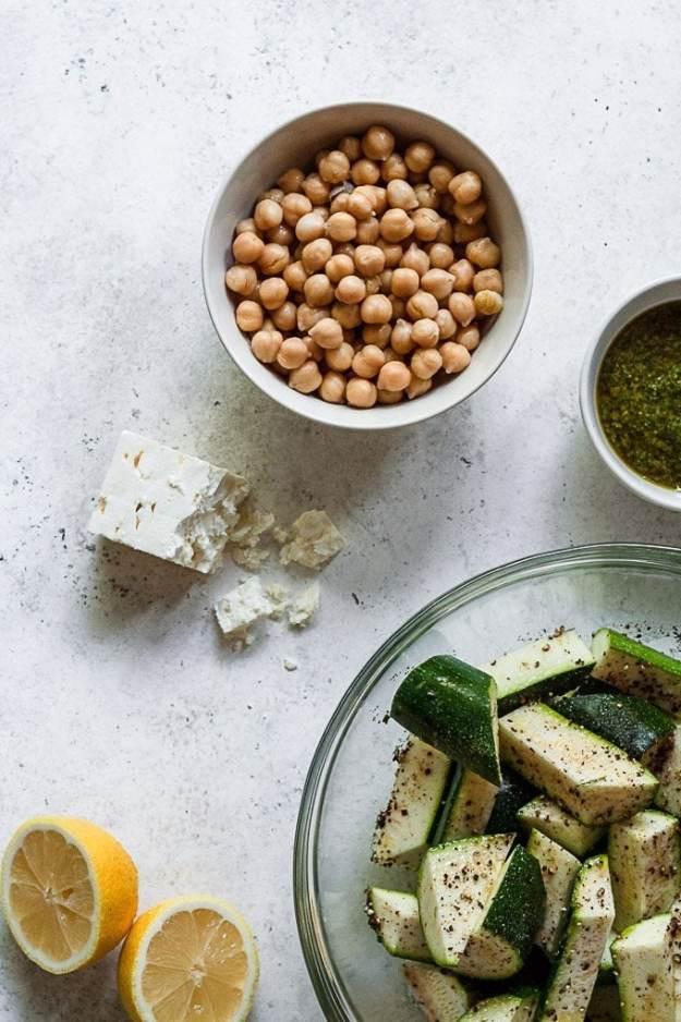 mediterranean grilled zucchini salad ingredients