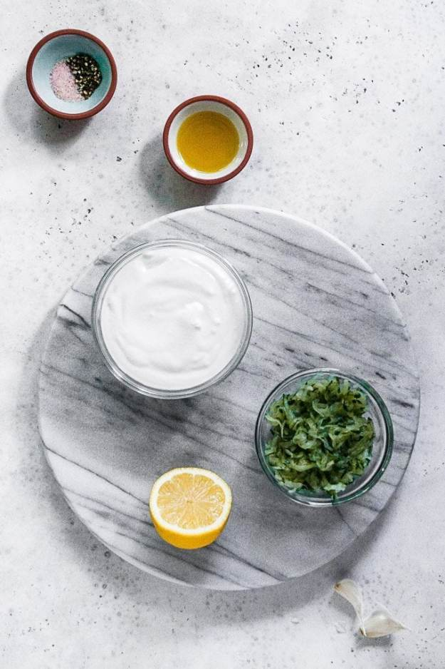 ingredients for dairy free tzatziki sauce no dill