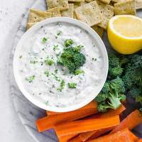 Tzatziki Sauce (no dill!) with Lemon and Garlic