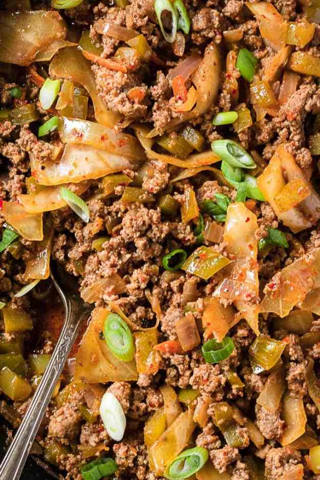 close up of whole30 korean sloppy joes