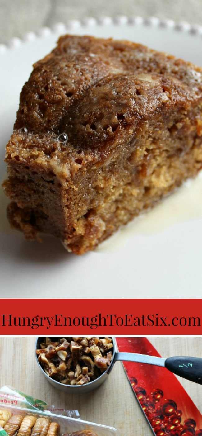Ocracoke Island Fig Cake! This is a delicious cake with a lovely, spiced taste from nutmeg, cinnamon and chewy bits of fig throughout! It is a traditional recipe of Ocracoke Island, North Carolina.