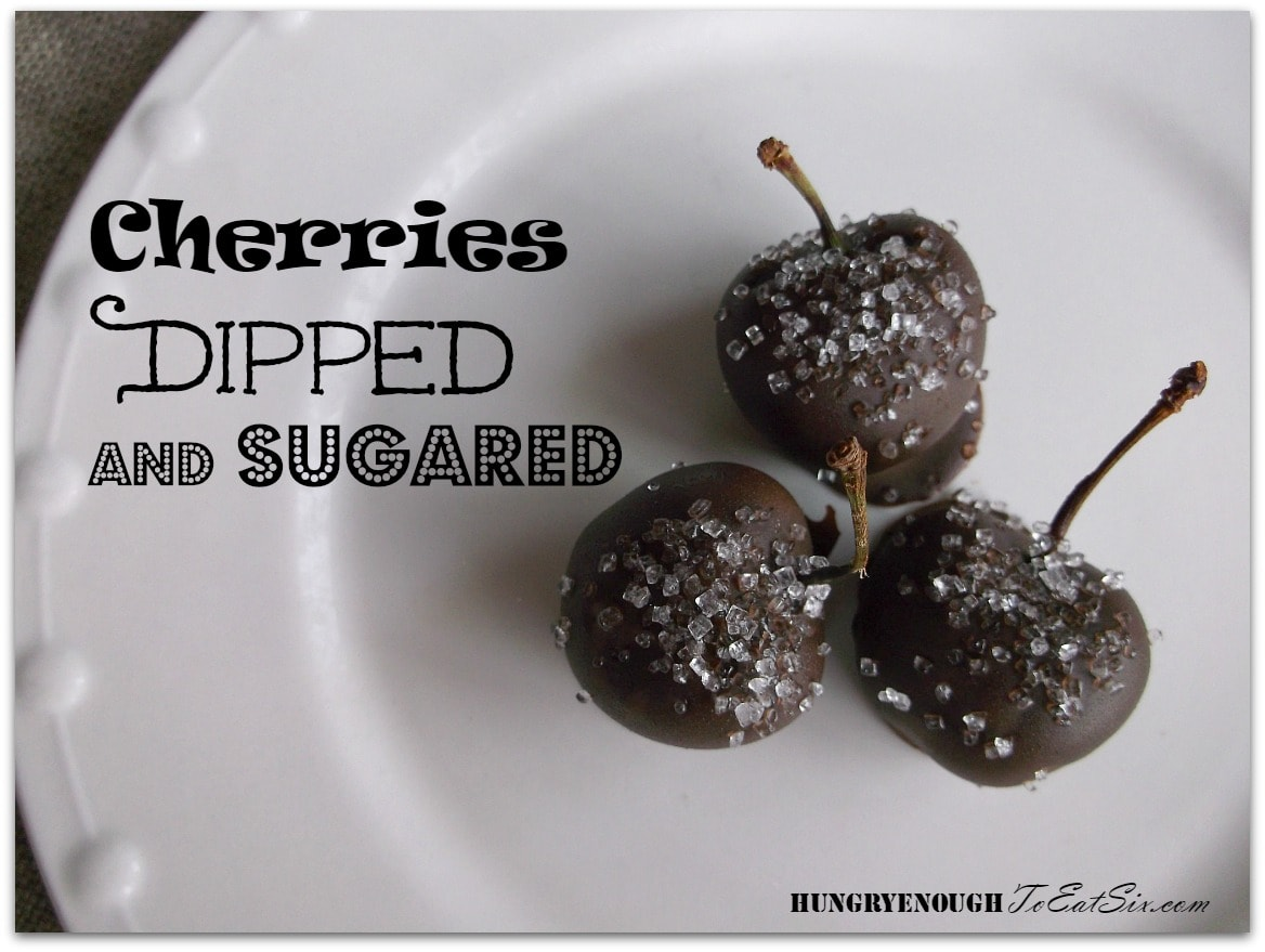 Cherries Dipped and Sugared