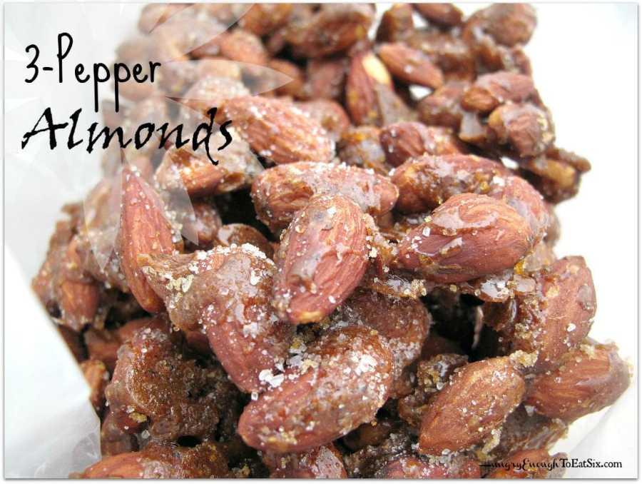 Three-Pepper Almonds