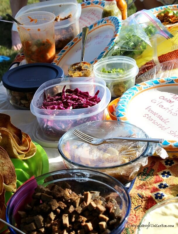 Our friends brought their best tacos and margaritas to this tasty, summertime cook-off!