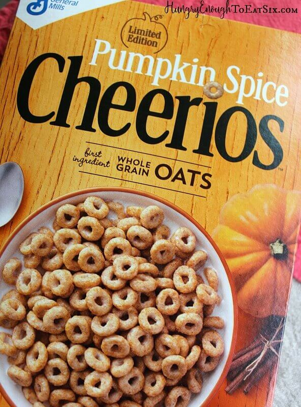 Pumpkin Spice Cheerios create a flavorful, crunchy base and topping for a thick, cooked apple spread.