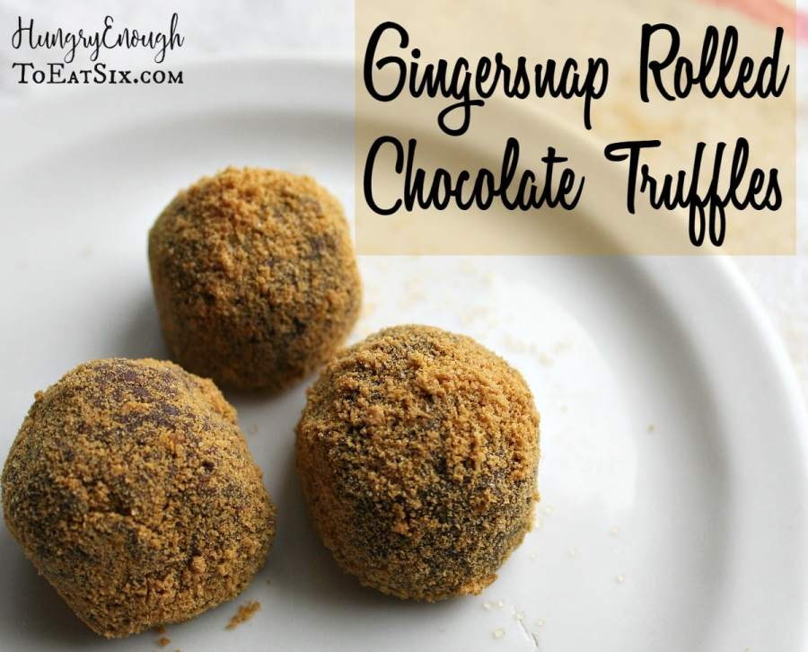 Gingersnap Rolled Chocolate Truffles