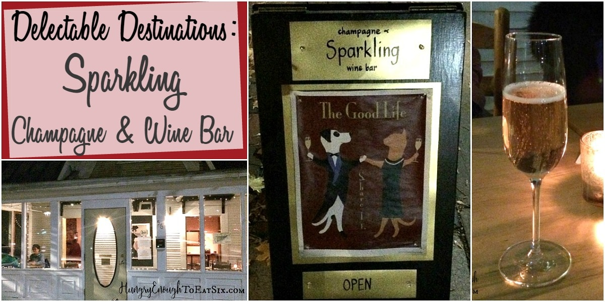 My most recent quest for good eats & fine drinks took me to Middlebury Vermont, to a wine and champagne bar named Sparkling!