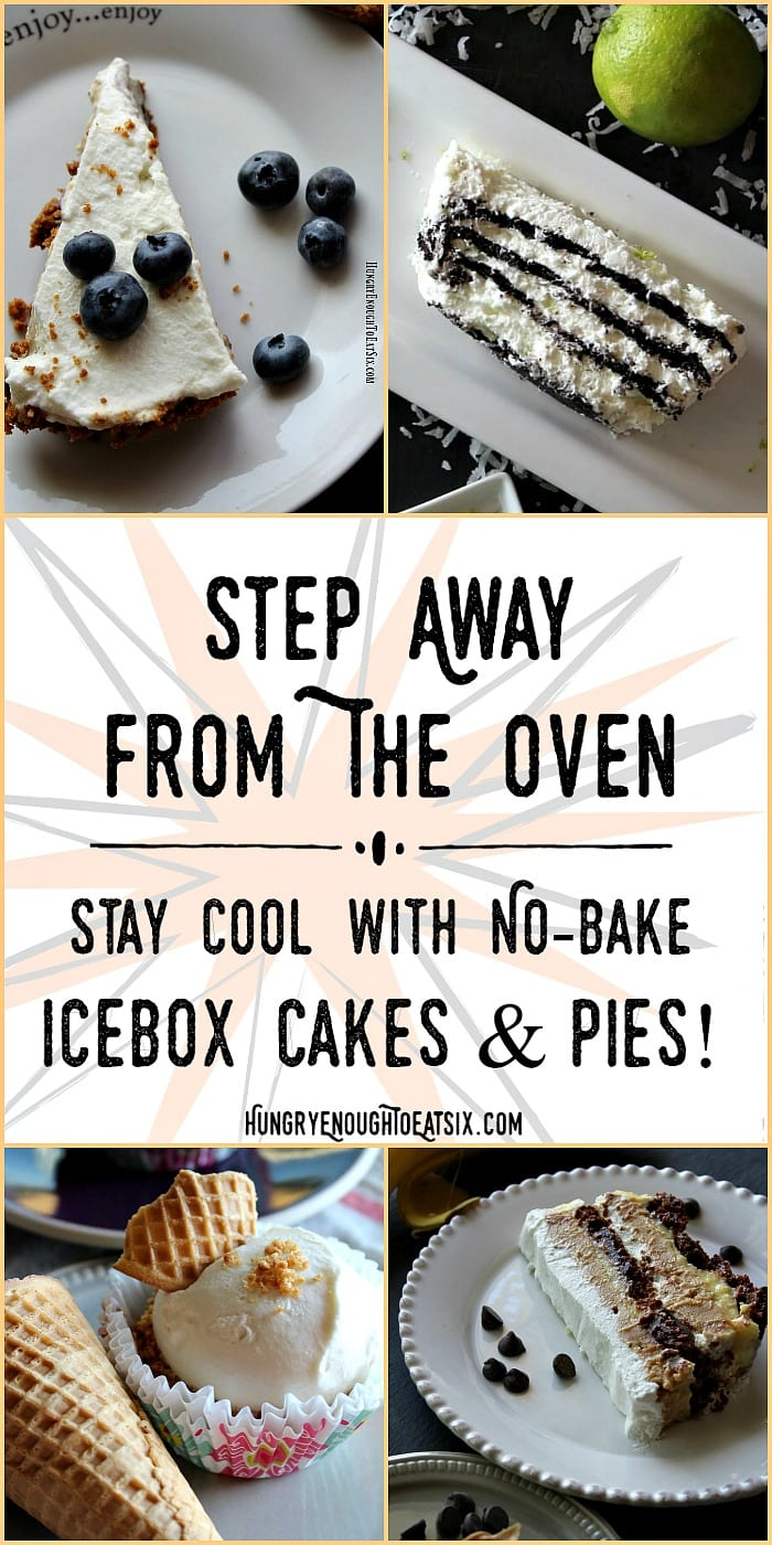Step Away From The Oven: Stay Cool with Icebox Cakes + Pies! These no-bake desserts are luscious, flavorful, creamy, and cold!