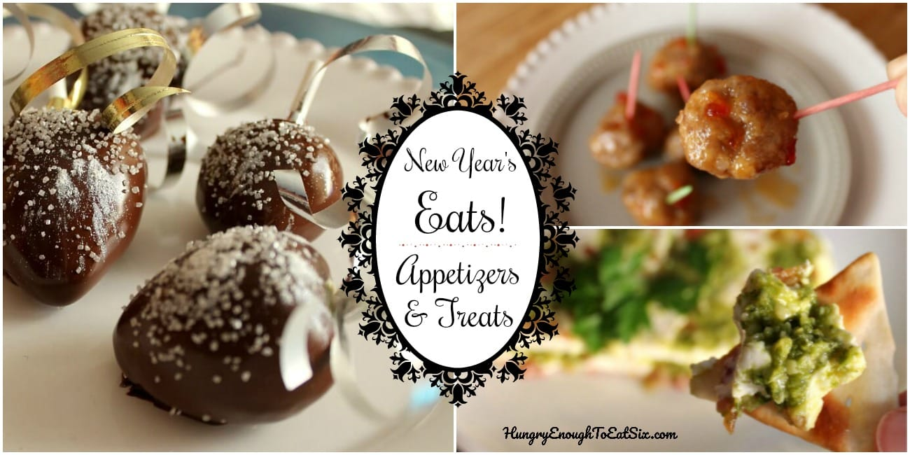 Say goodbye to 2017, and treat your guests to these tasty appetizers and treats as you ring in the new year together!