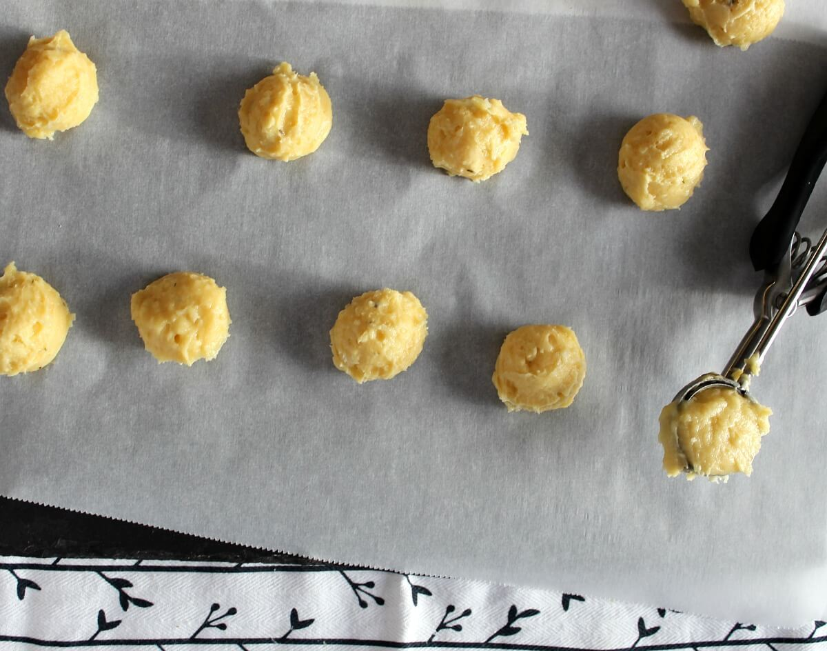 Gougères are puffy, savory and very hard to stop eating, especially when they are warm from the oven.