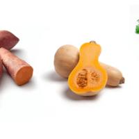Pompoenpuree met zoete aardappel