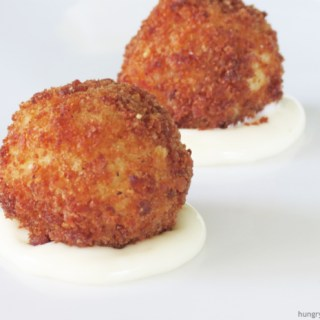 Mushroom and Brie Stuffed Arancini