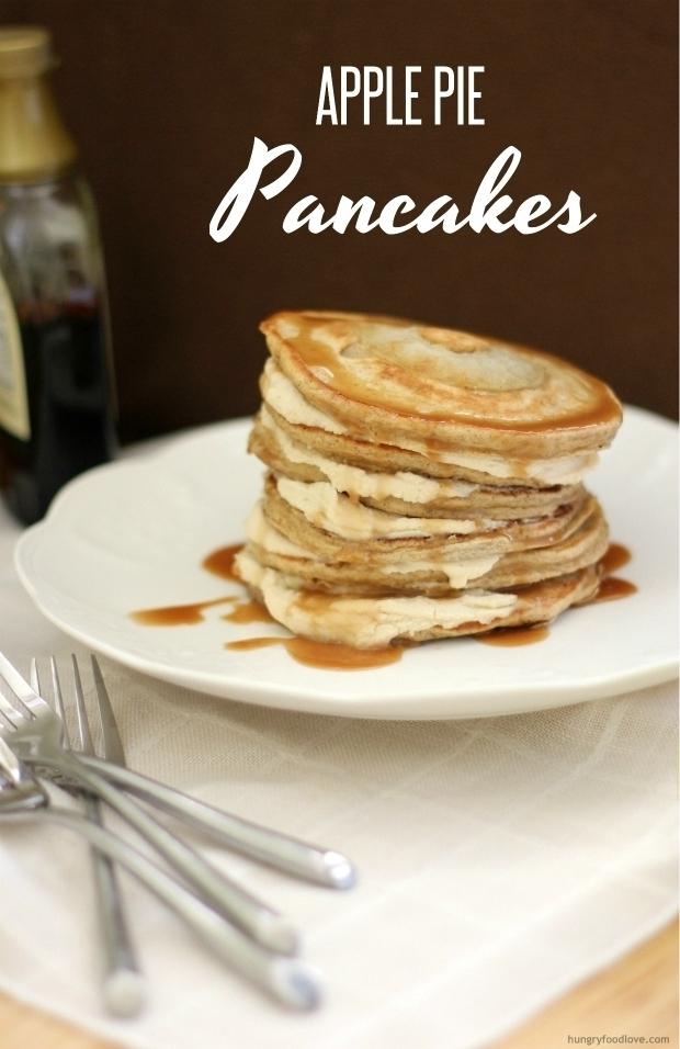 Apple Pie Pancakes with Caramel Mascarpone Filling