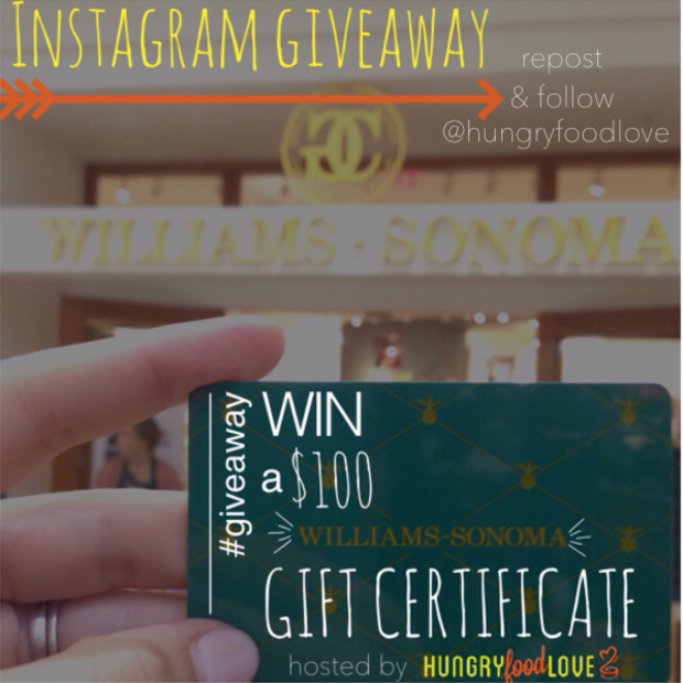 Instagram Giveaway   |   hungryfoodlove.com