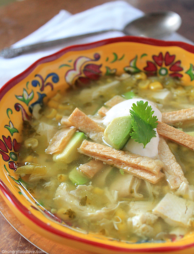 Tomatillo Turkey Soup   |   hungryfoodlove.com