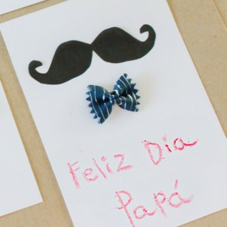 Father's Day Cards with Bow Tie Pasta