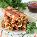 Creamy Shrimp Taquitos