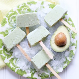 No Mold Coconut Avocado Popsicles