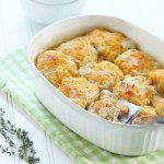 Turkey and Sweet Potato Cheesy Dumplings Casserole