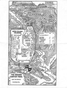 Havasu Falls Hike Trail Map
