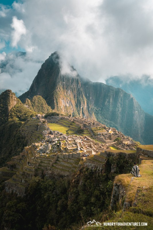 Hungry for Adventures Staring at Machu Picchu