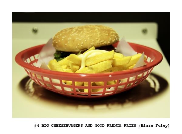 Big cheeseburger and good french fries