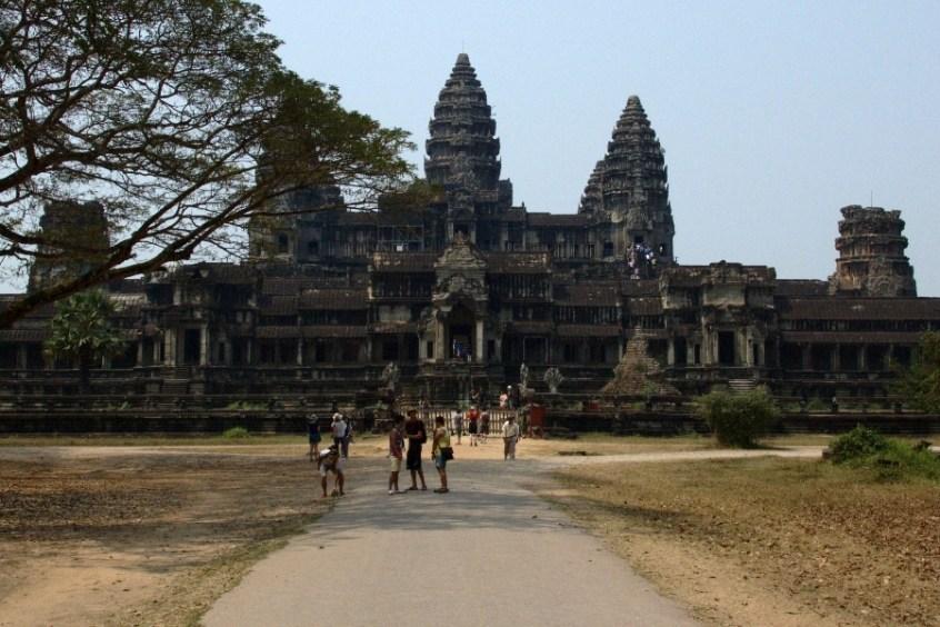 Die Rückseite von Angkor Wat
