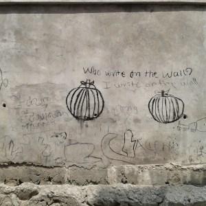 Graffito in Kambodscha