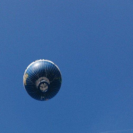 Fesselballon Berlin von unten