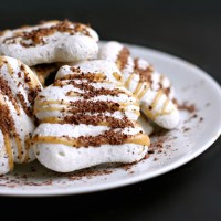 Peanut Butter and Chocolate Speckled Meringues