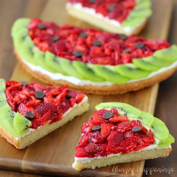 Happy Watermelon Day - Strawberry Kiwi Fruit Pizza