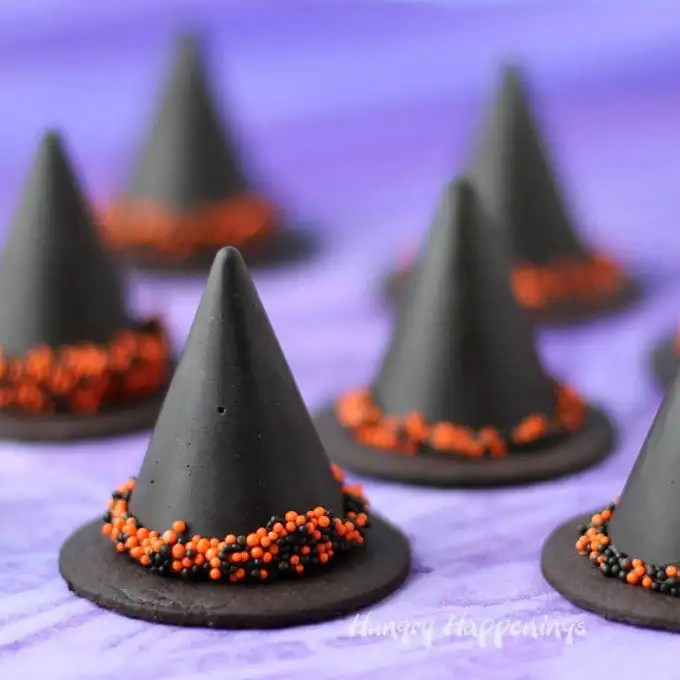 Nutella Fudge Witch Hats Hungry Happenings Halloween