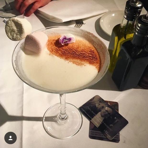 Marshmallow Margarita at San Carlo Liverpool