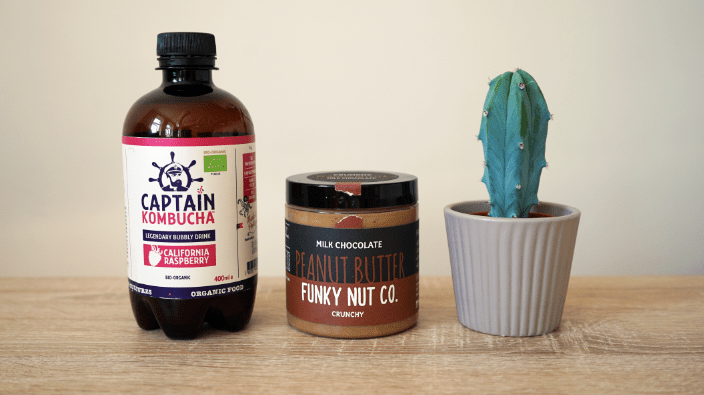 Captain Kombucha and Funky Nut Butter peanut butter
