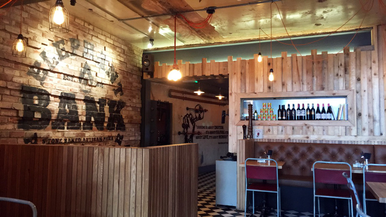 Elephant Bank pizza industrial interior