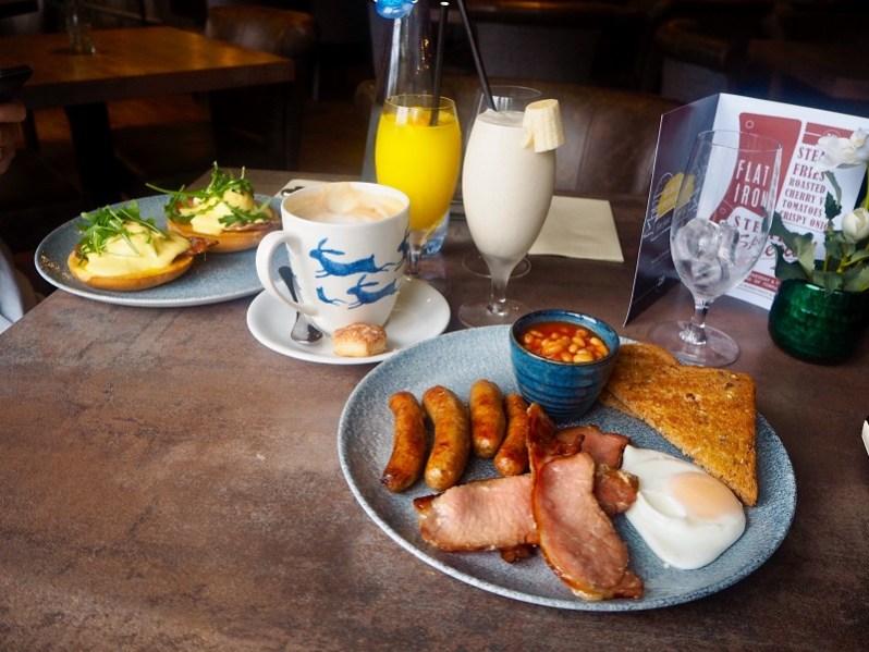 The Hollies farm shop breakfast menu