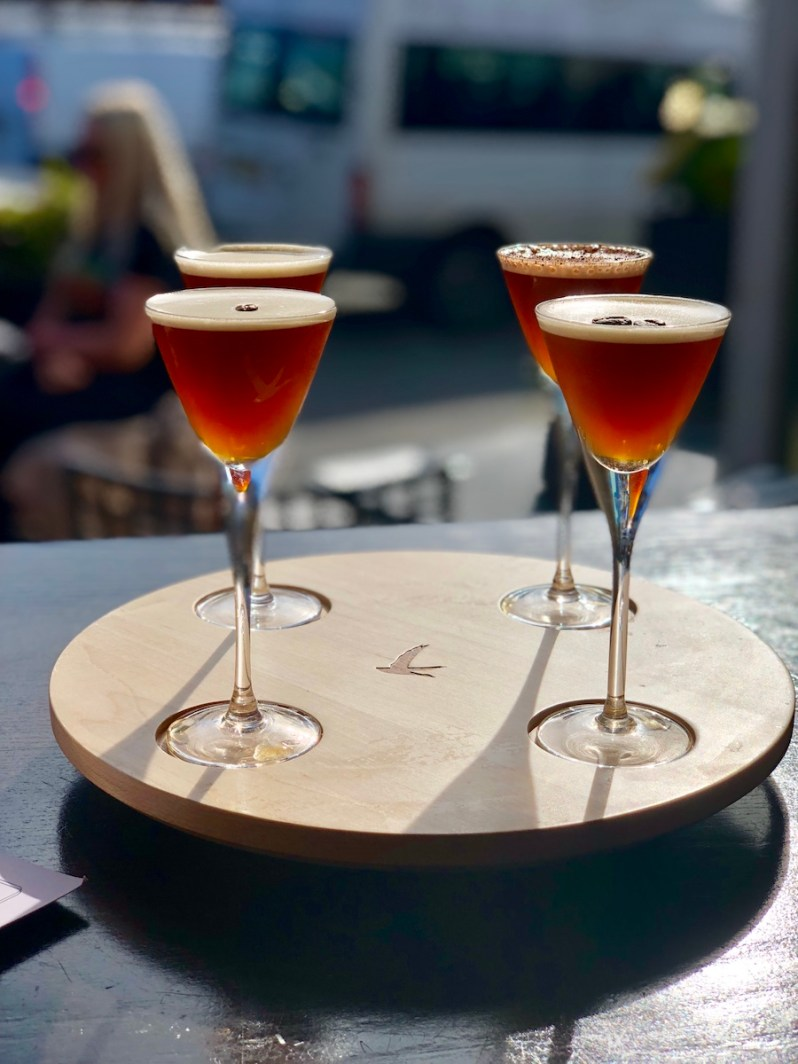 Espresso Martini Flight Board at Gusto Restaurant and Bar Heswall