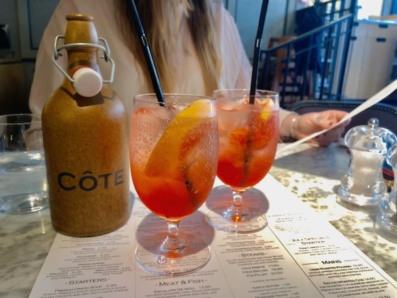 Pampelle Spritz cocktail at Cote Brasserie Chester