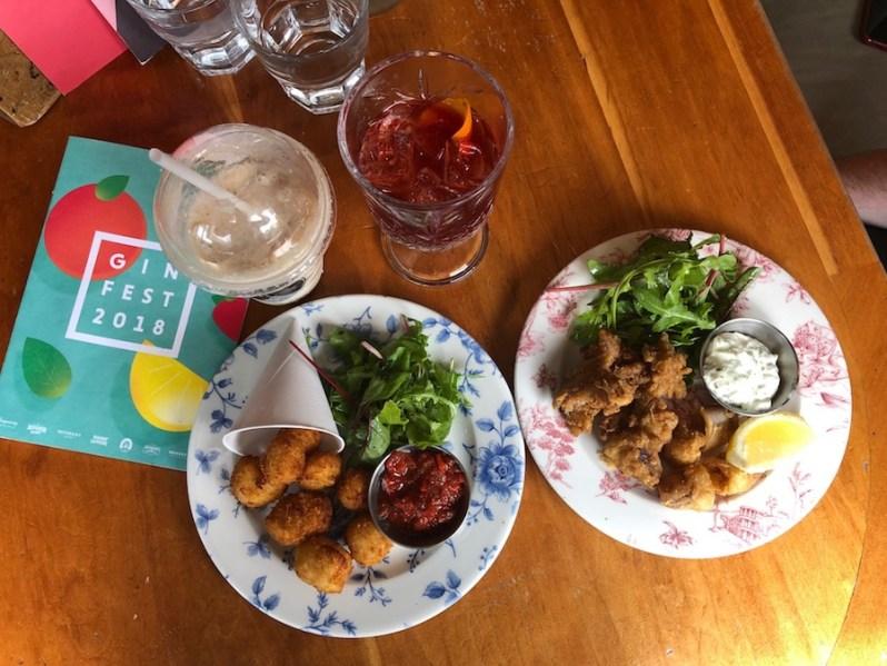 Popcorn Halloumi and Calamari starters menu Revolution St Peter's Square