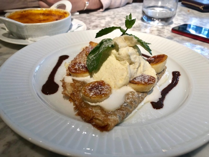 Praline Crepe from the Cote restaurant dessert menu