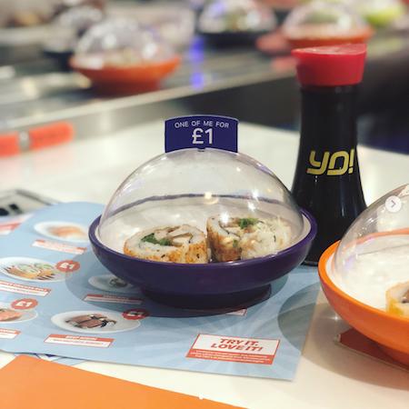 Yo Sushi Cheshire Oaks £1 menu