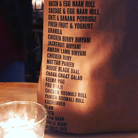Dishoom Manchester doggy bag from restaurant and food menu review