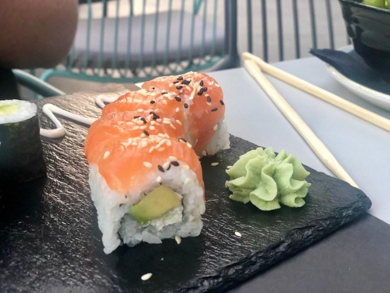 Asian food menu at Biberon sushi restaurant and bar in Split Croatia 2