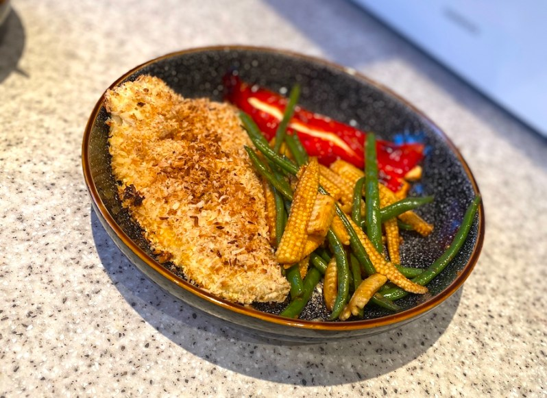 coconut cod with homemade breadcrumbs recipe