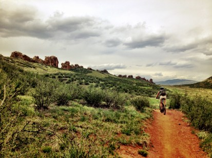 Climbing up the Devils backbone trail