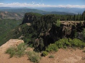 The canyon holding No name trail