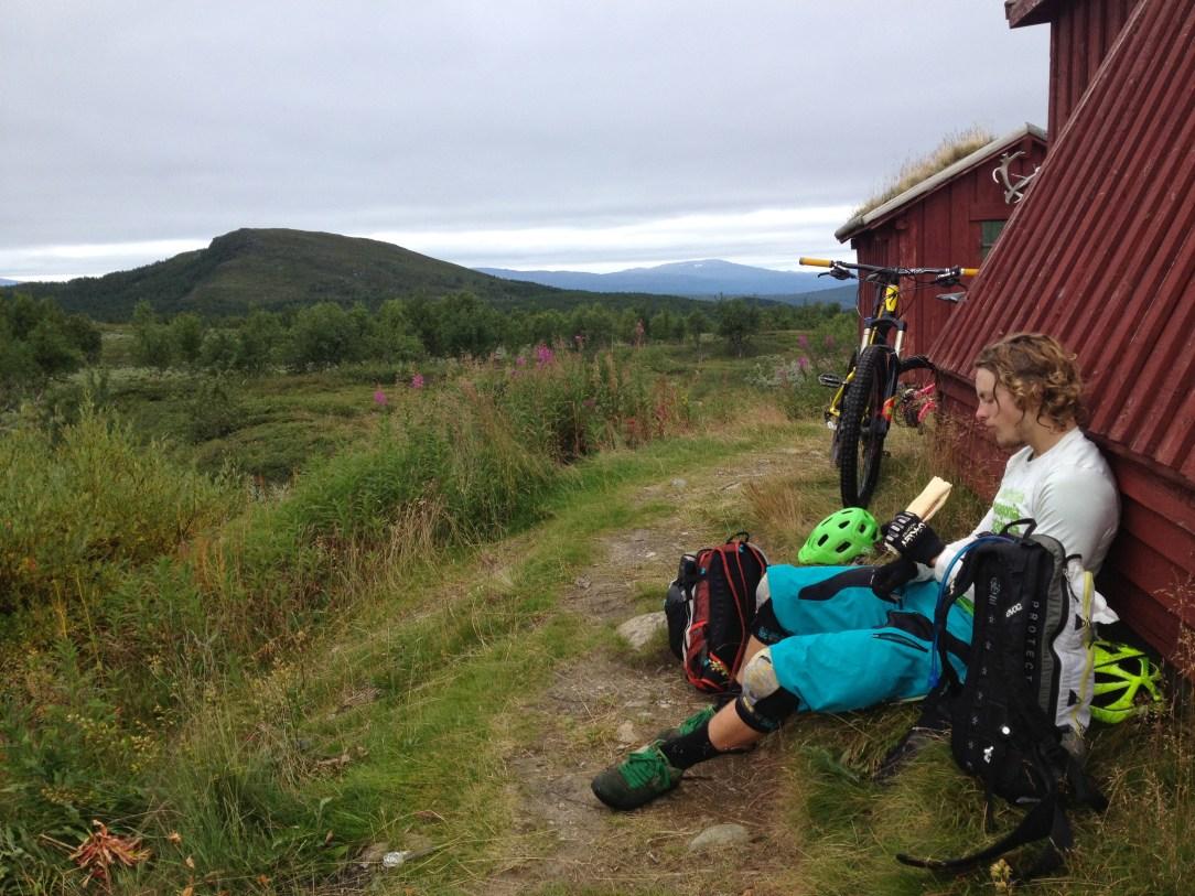 A well deserved fika stop at Marsfjällskåtan