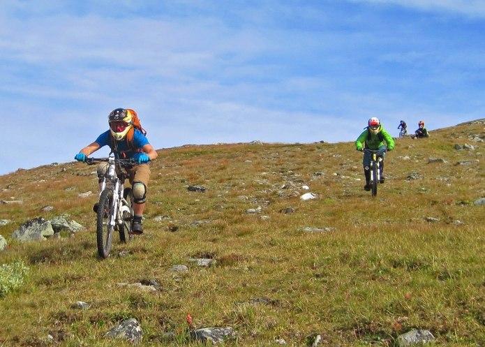 Biking Ryfjället 2012. Photo: Karin Håberg